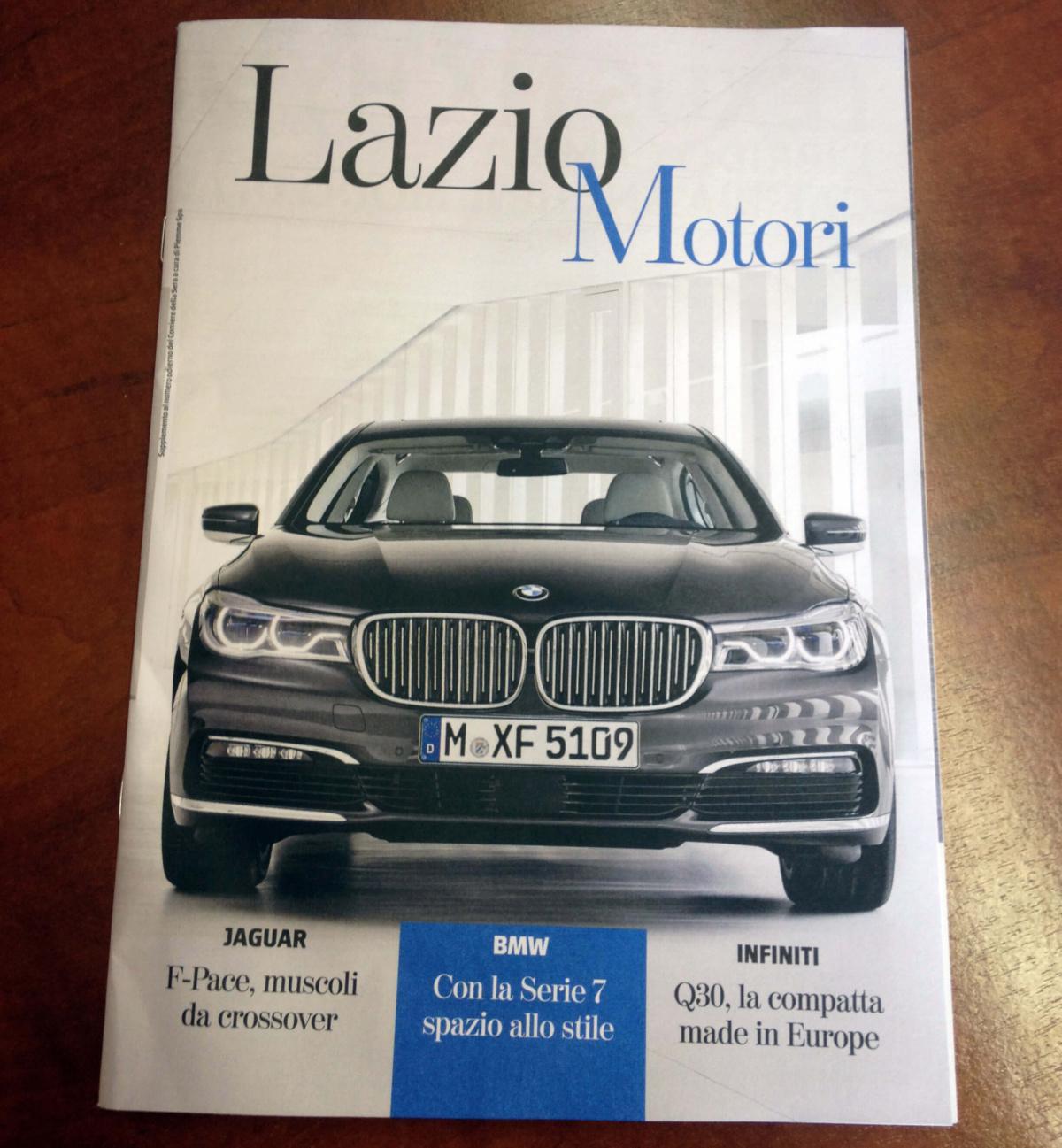 Con il Corriere della Sera c'è Lazio Motori