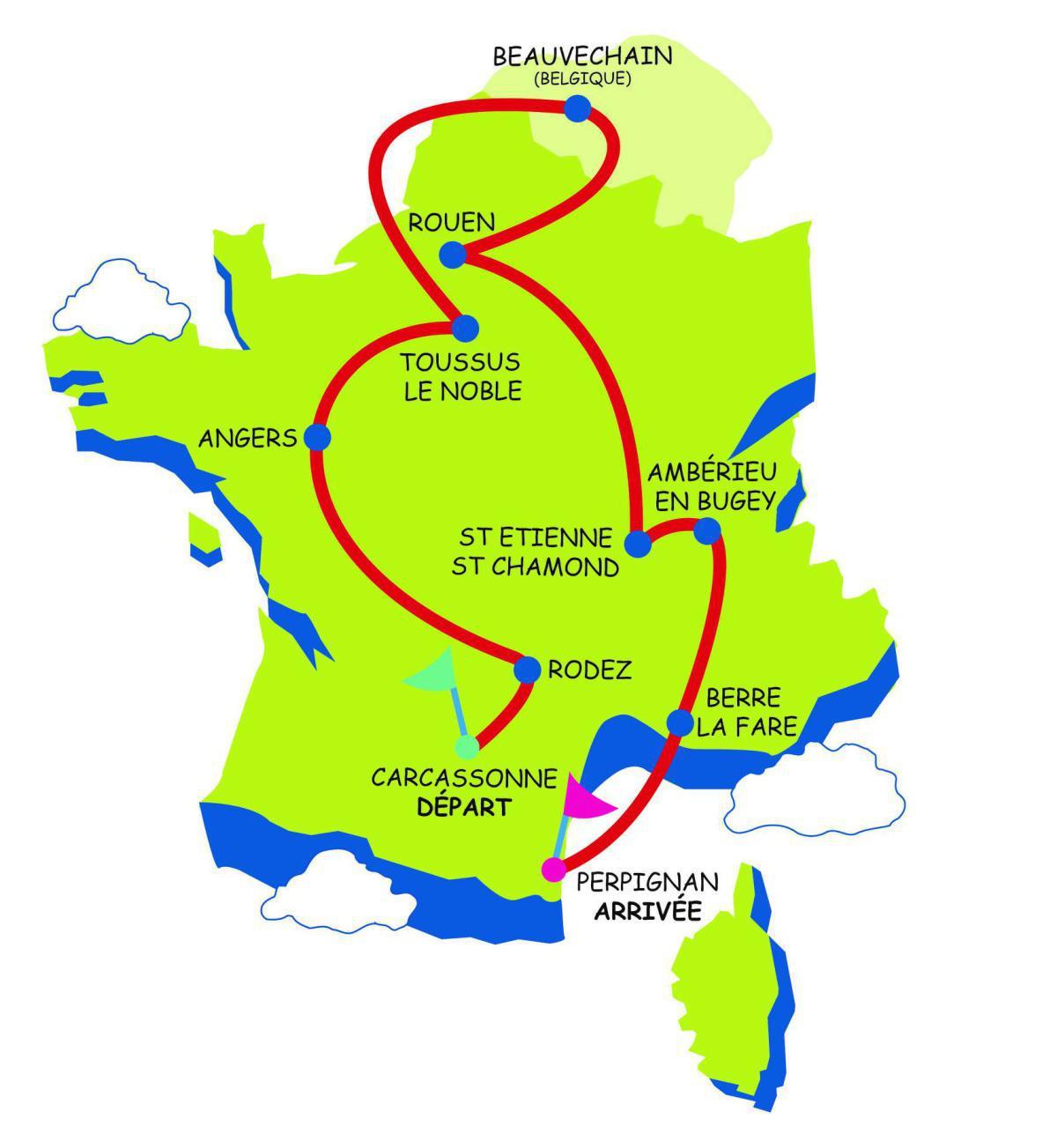 Carte du Tour de France 2021 - Rêves de gosse