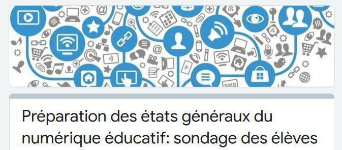 Les lycéen(ne)s s'expriment : sondage pour les États Généraux du Numérique 2020
