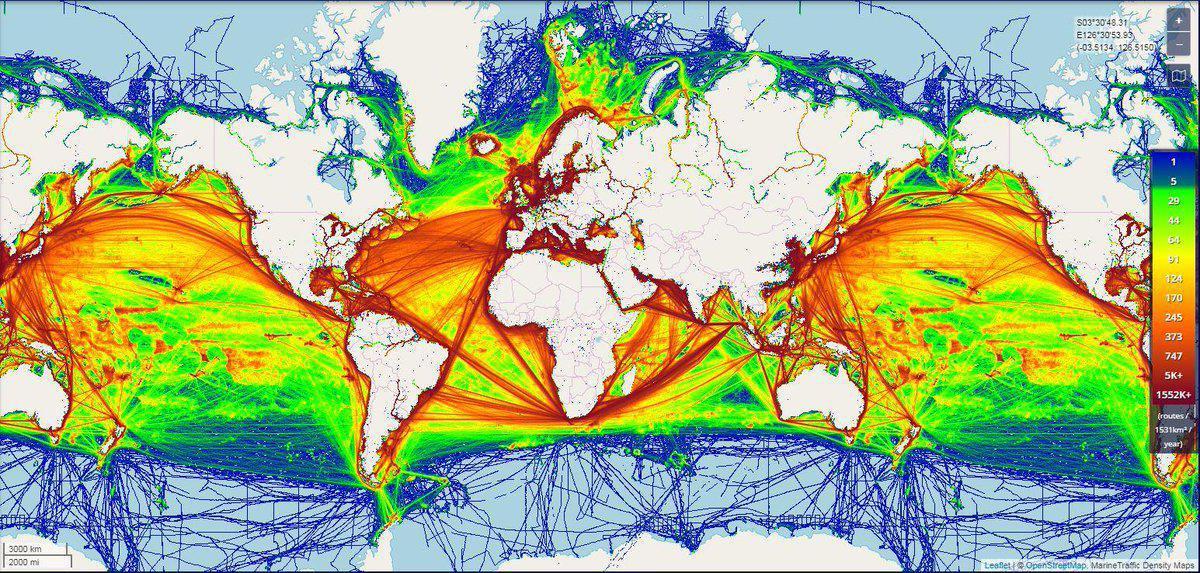 La Géopolitique des Mers et des Océans - Conférence de l'IGLB, le Jeudi 3 Décembre de 10h à 11h30