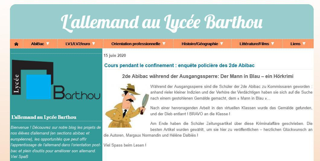 Articles en allemand publiés sur le site du lycée