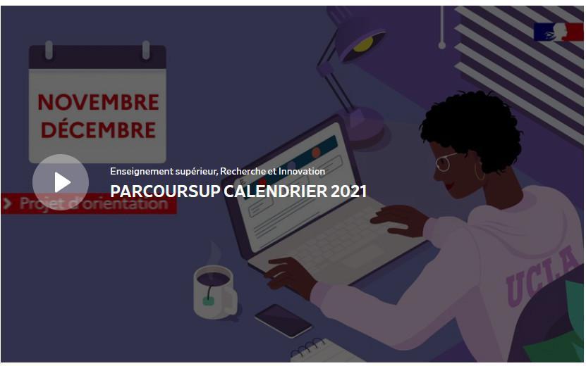 L'entrée dans l'enseignement supérieur : Parcoursup 2021 (Présentation 1/2) - Constitution du dossier du candidat