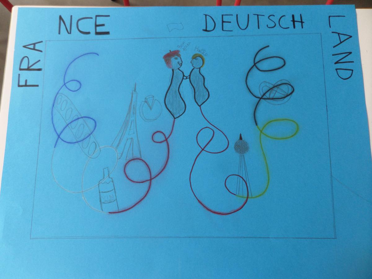 Les affiches de l'exposition de la journée franco-allemande du 22 janvier 2021