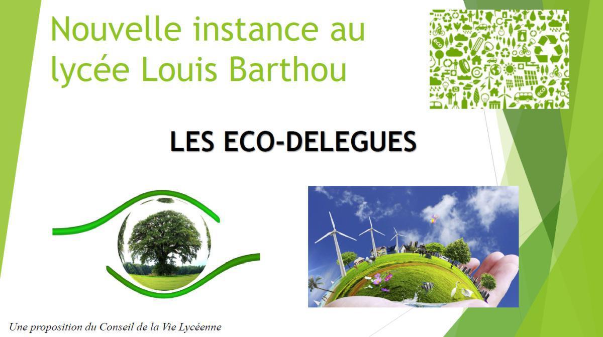 Une nouvelle instance au Lycée Louis Barthou : les éco-délégués
