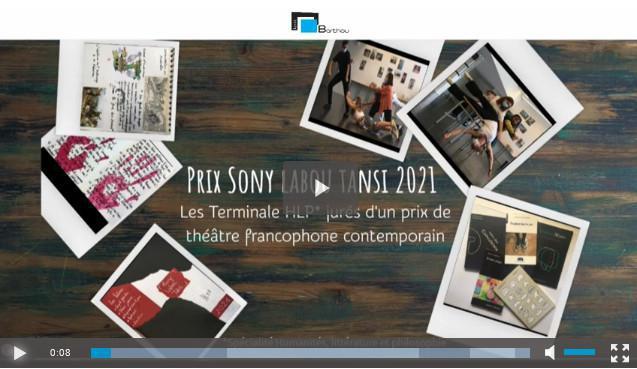Prix Sony Labou Tansi 2021 - Les élèves de Terminale HLP jurés d'un prix de théâtre francophone contemporain