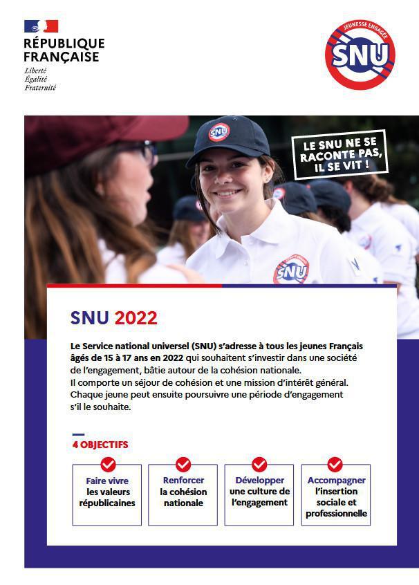"""Le Service National Universel (SNU) - Ouvrir son """"espace volontaire"""" pour la promotion 2022"""