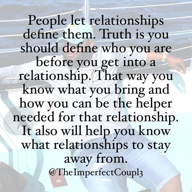 Do You Let Relationships Define You?