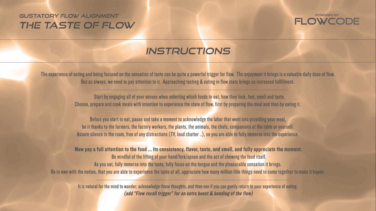 Mindful eating - The taste of flow (Free)