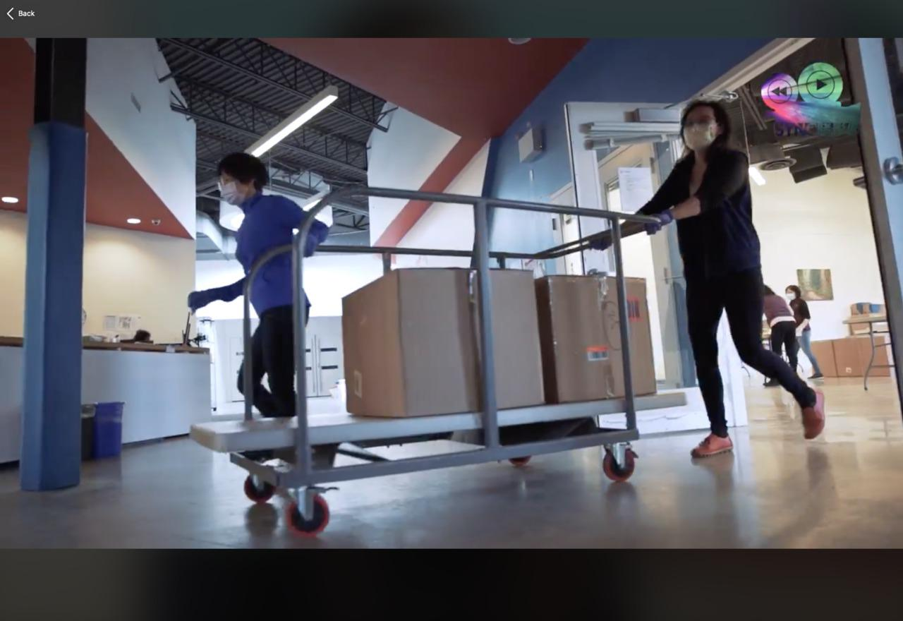 Moving Supplies to a Truck