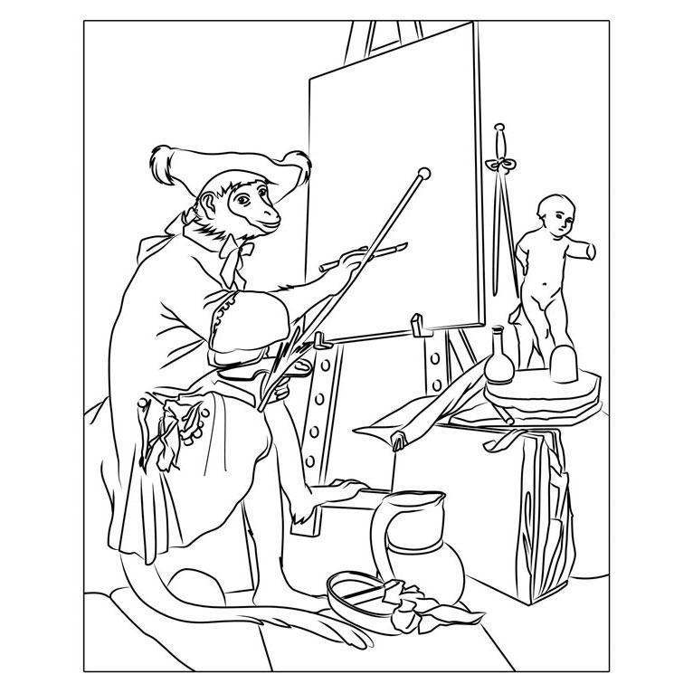 L'artiste singe