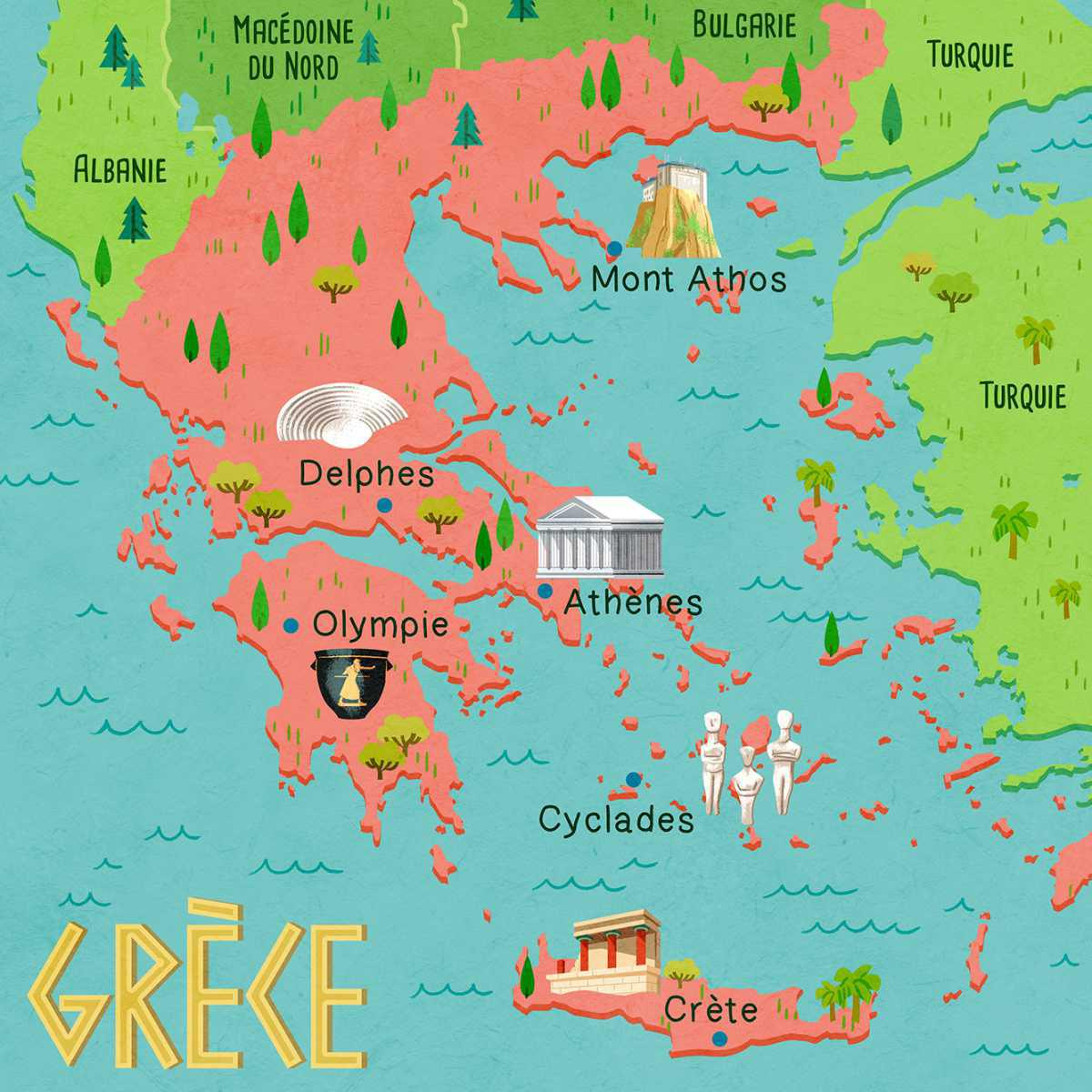 La carte de Grèce