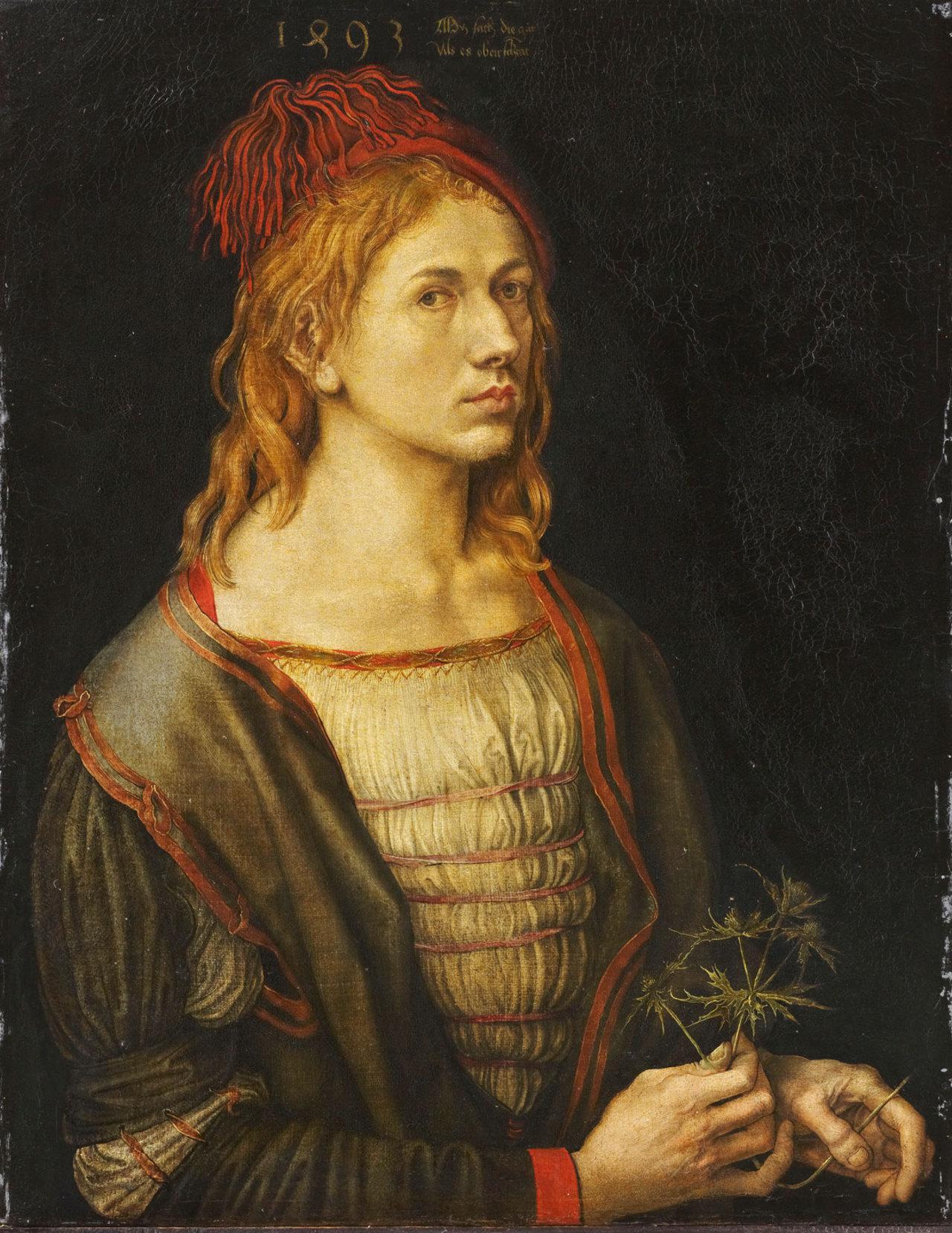 Portrait de l'artiste au chardon