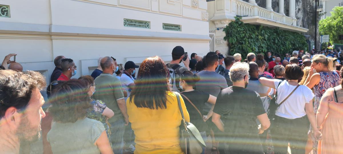 Rassemblement Contre l'Annualisation du Temps de Travail à Monaco.