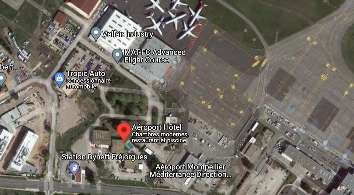 Aéroport Hotel Restaurant 🛩 LFMT MONTPELLIER MEDITERRANEE