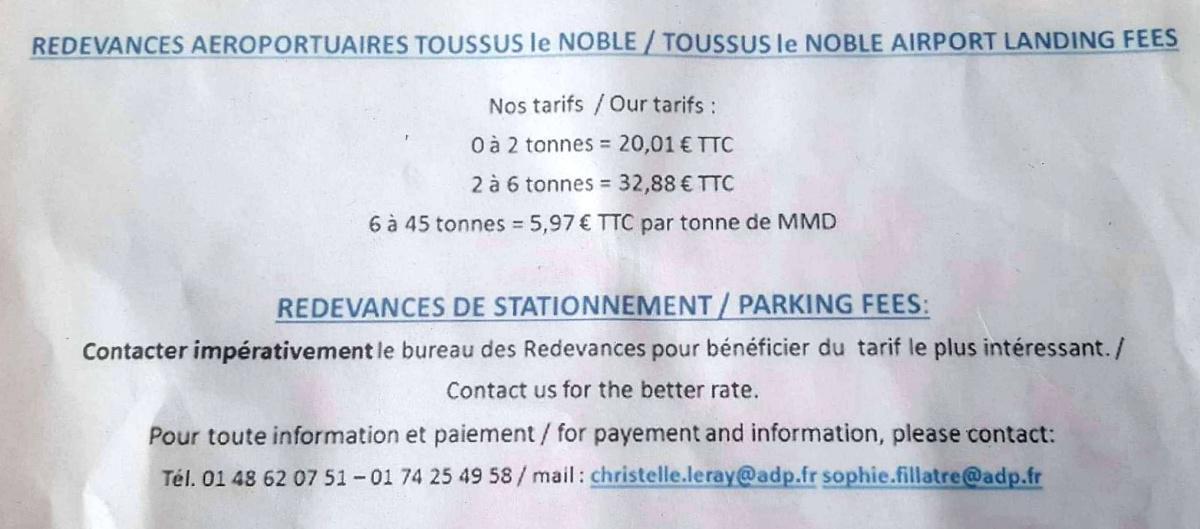 LFPN Toussus le Noble 👑 🍴 🚍 < 1,5 km