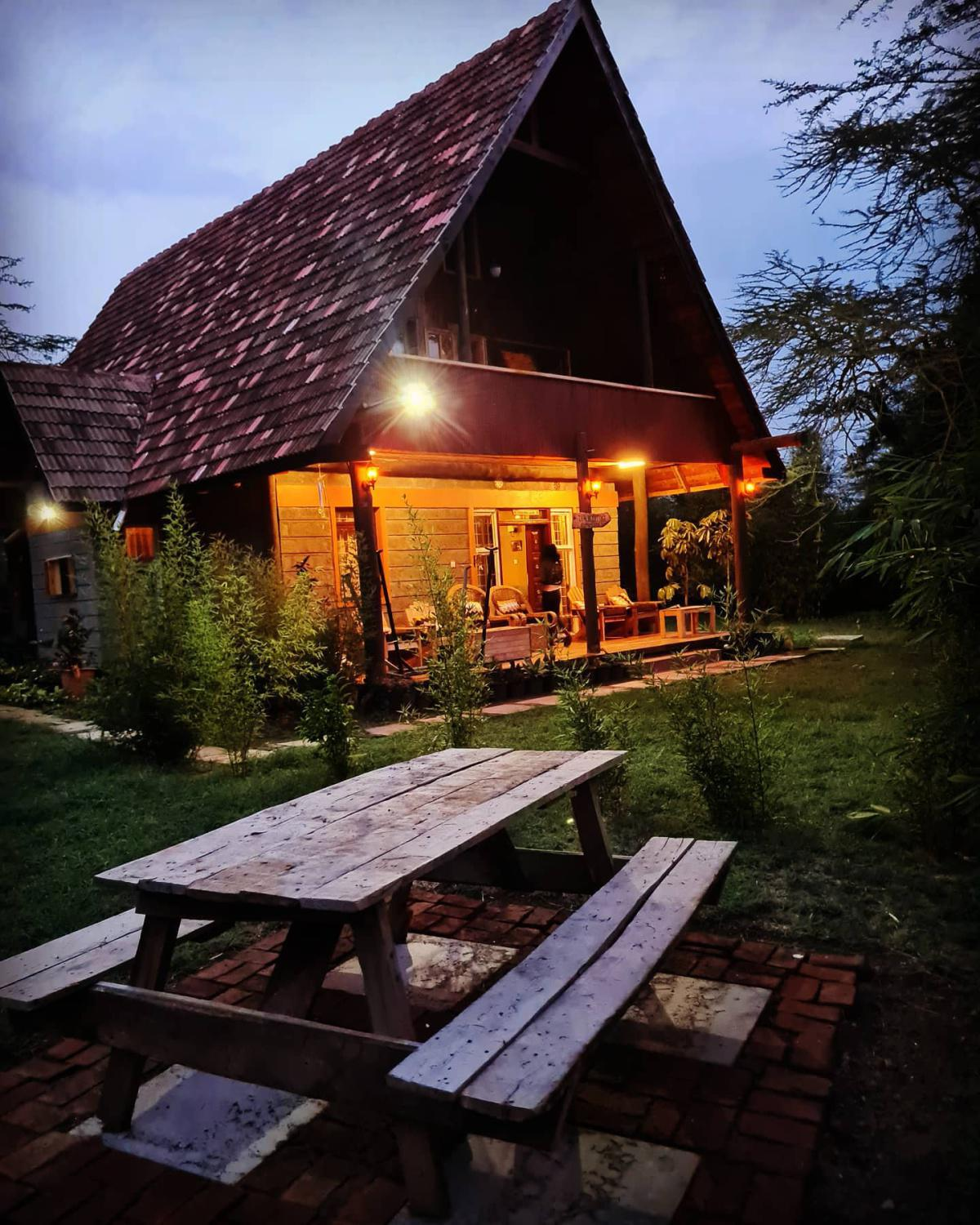 Stay in these rustic cottages very close to L. Elementaita from 2159 Per Person!