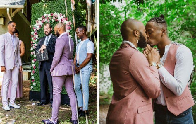 Parejas gays comparten su boda en plena pandemia.