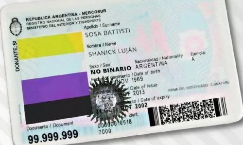 Argentina reconoce en su DNI el género no binario.