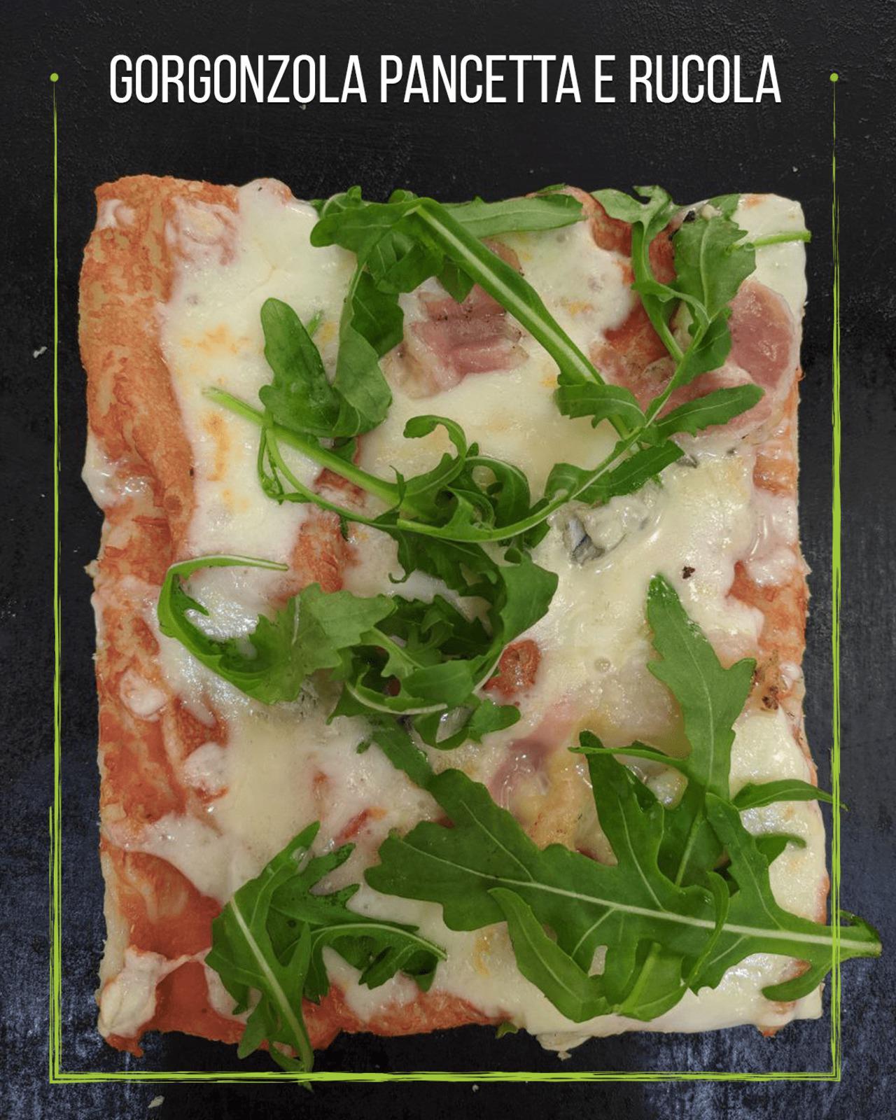 Gorgonzola-pancetta e rucola