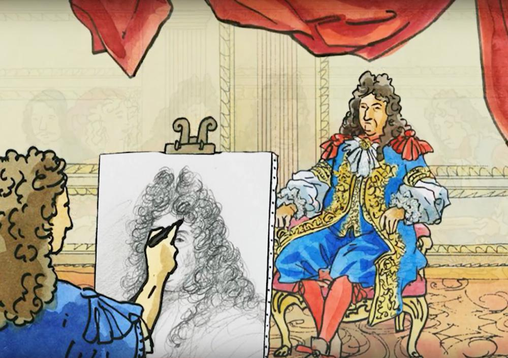 A portrait of Louis XIV
