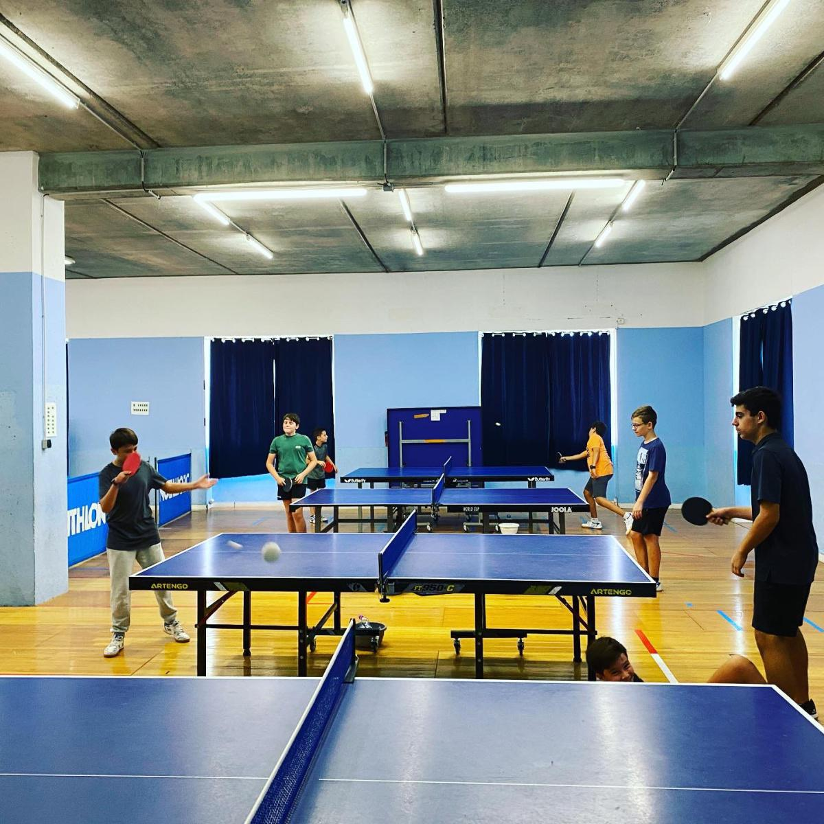 stage sportif pingpong forfait semaine du 12/07 au 16/07/21