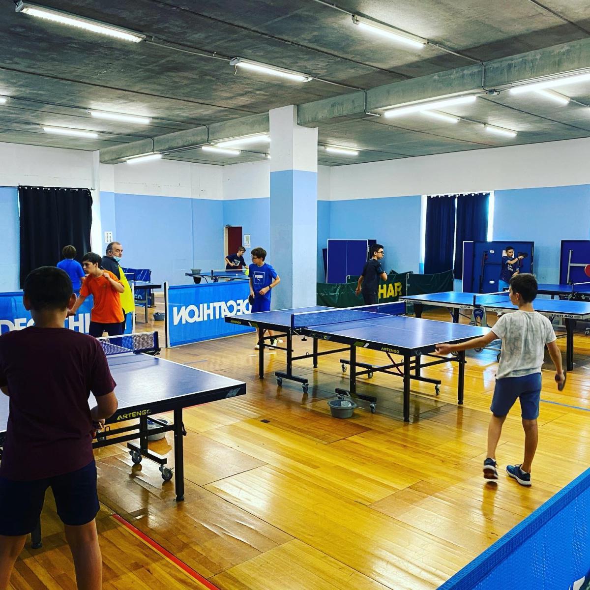 stage sportif pingpong forfait journée entre 26/07 au 30/07/21