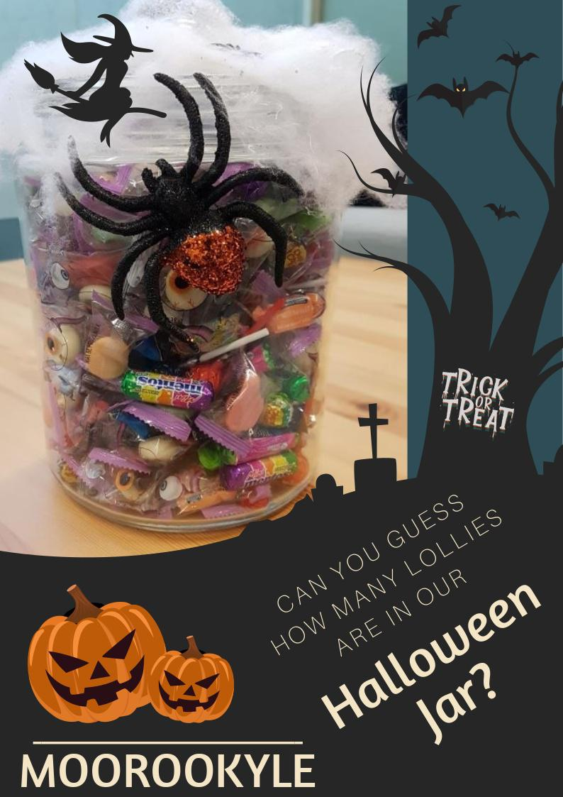 Halloween Candy Jar - Guess how many to win!