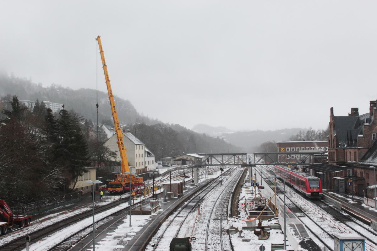 Neue Fußgänger-Überführung für den Gerolsteiner Bahnhof