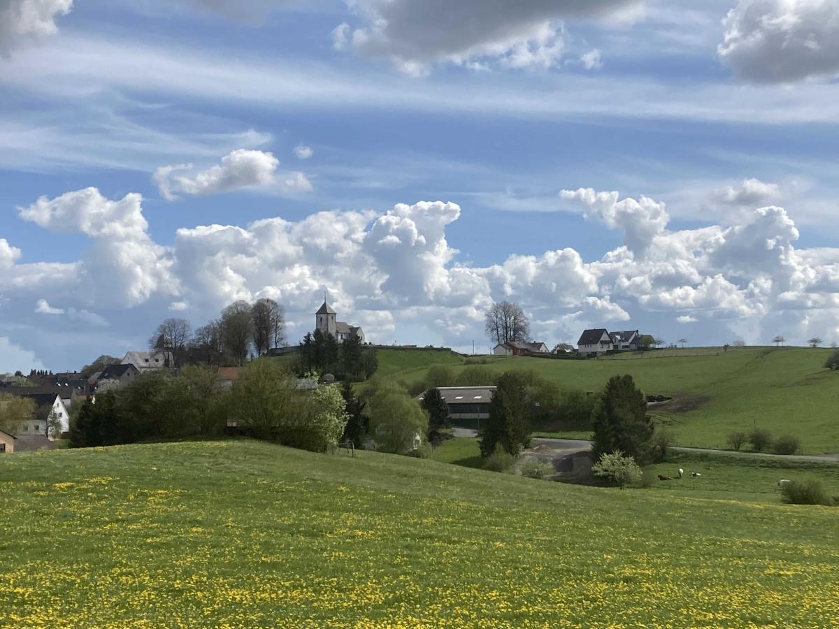 Blick auf Berndorf vom dortigen Rundwanderweg