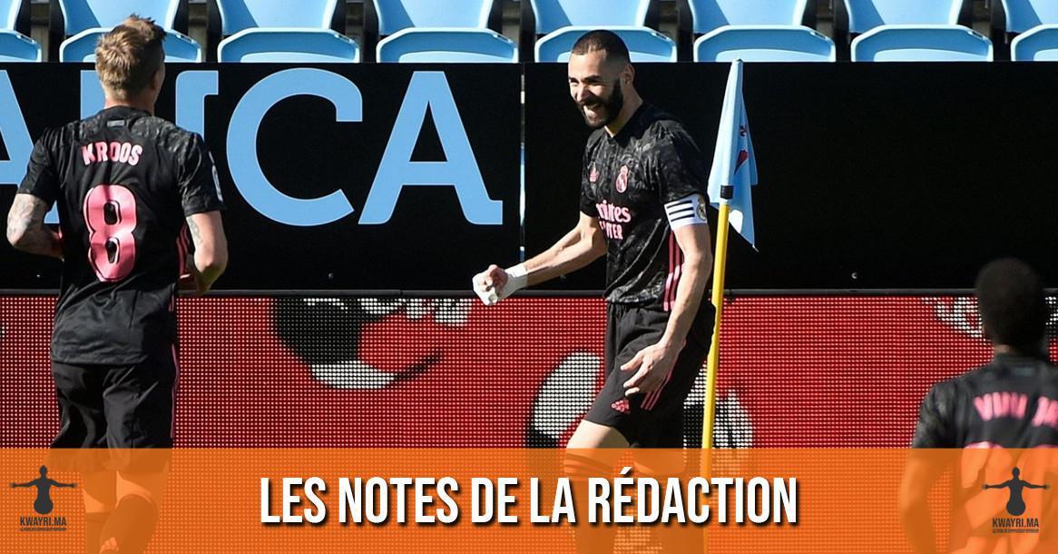 Celta - Real Madrid : Les notes de la rédaction
