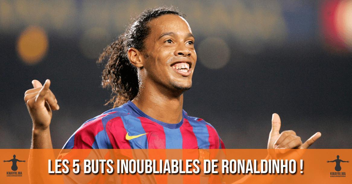 Vidéo - Les 5 buts inoubliables de Ronaldinho !