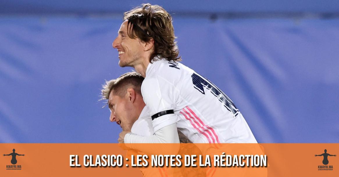Clasico - Les notes de la rédaction !