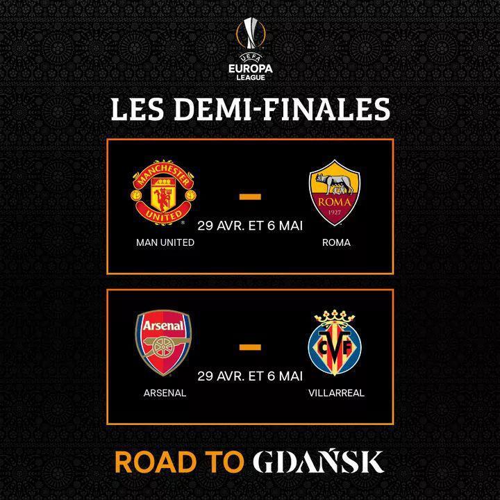 Europa League : Programme des demi-finales