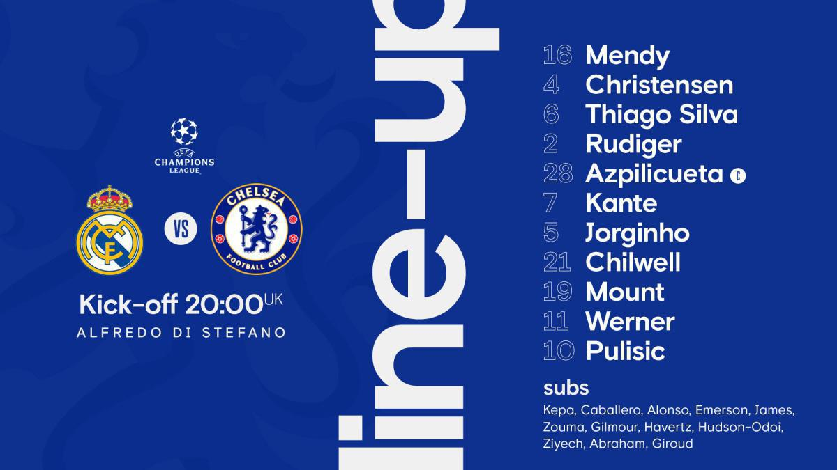 Real Madrid Vs Chelsea : Les compositions officielles