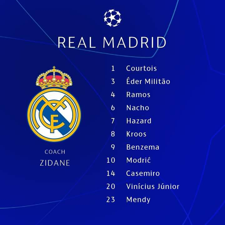 Chelsea - Real Madrid : Les compositions officielles