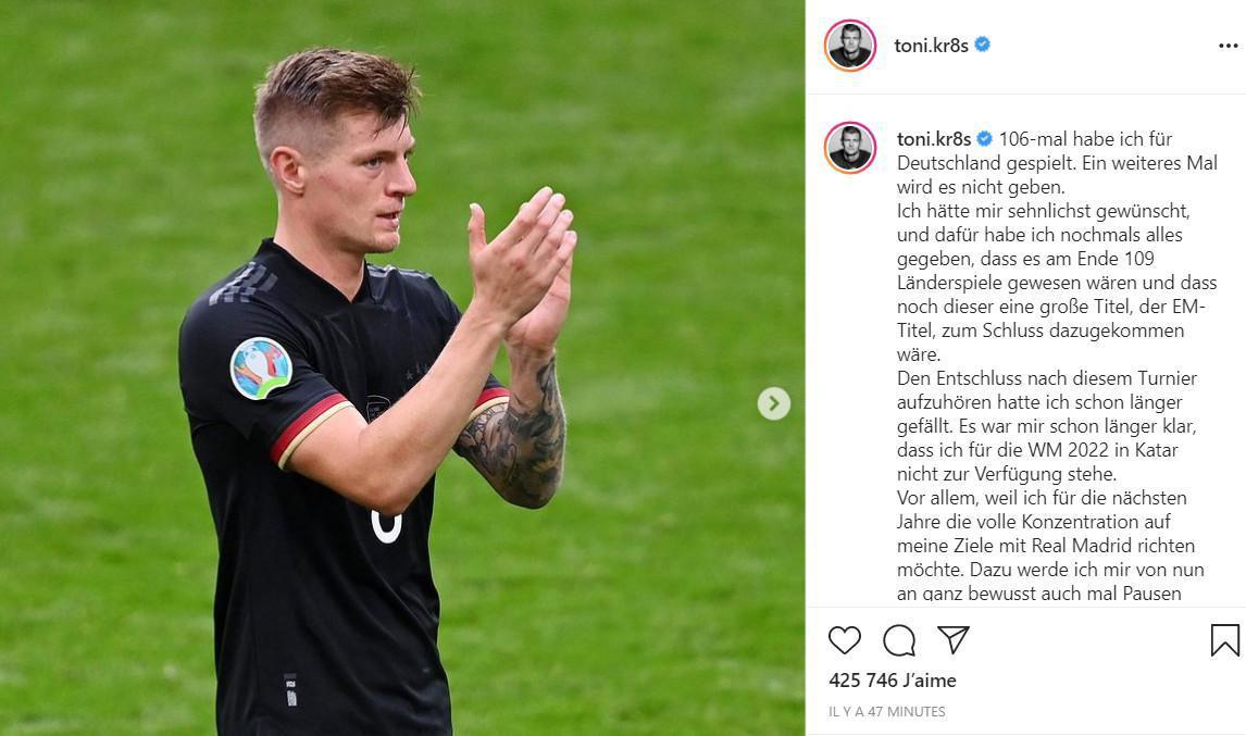 Officiel: Toni Kroos prend sa retraite internationale