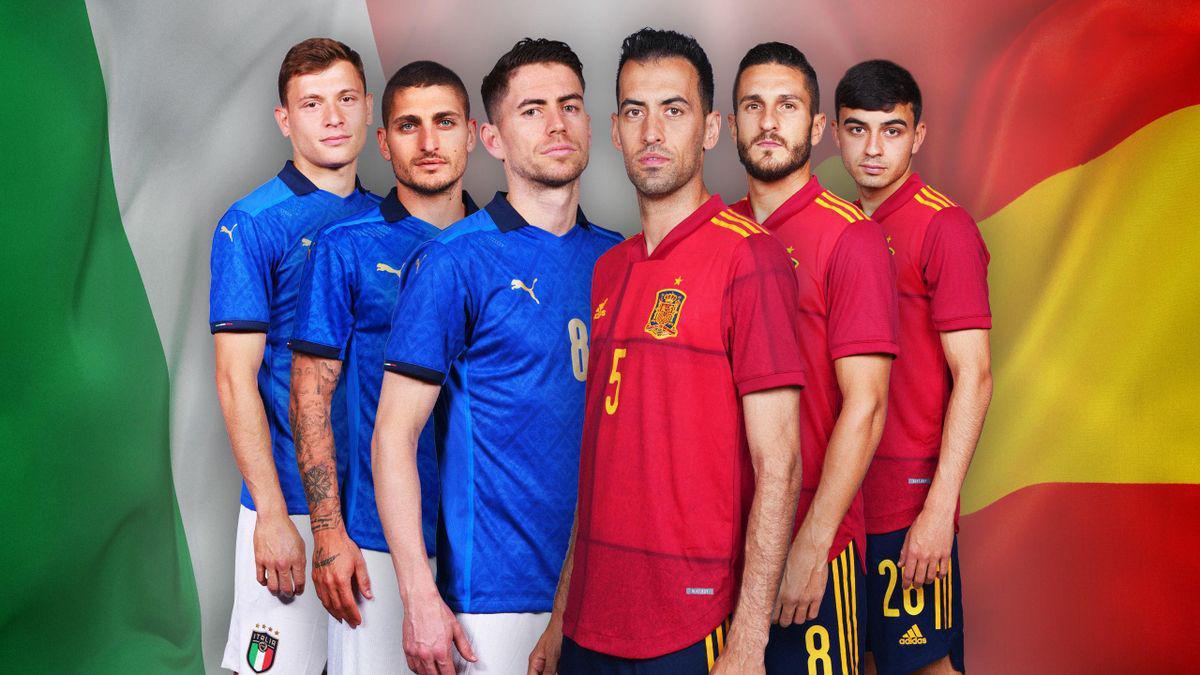 Les compositions du choc Italie - Espagne