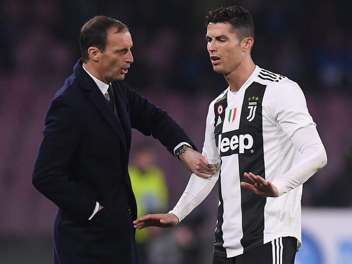 Juve : Massimiliano Allegri confirme le départ de Ronaldo