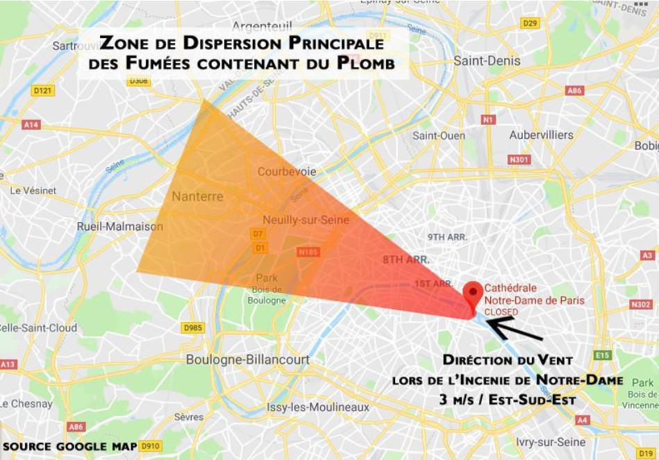 Smoke dispersion from the Notre-Dame fire: INERIS confirms the map published by YOOTEST