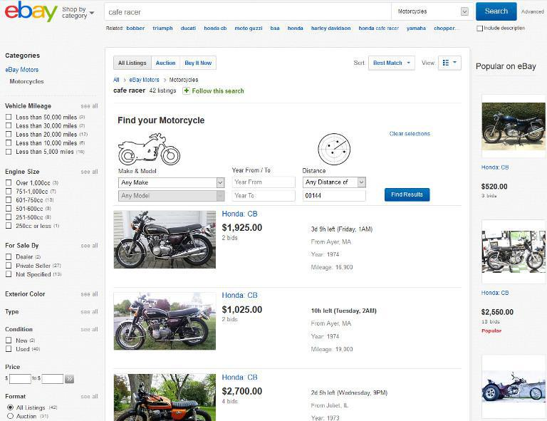 Buying a Motorbike for your Project