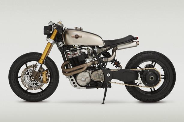 Katee Sackhoff's Honda XL600R cafe racer bike