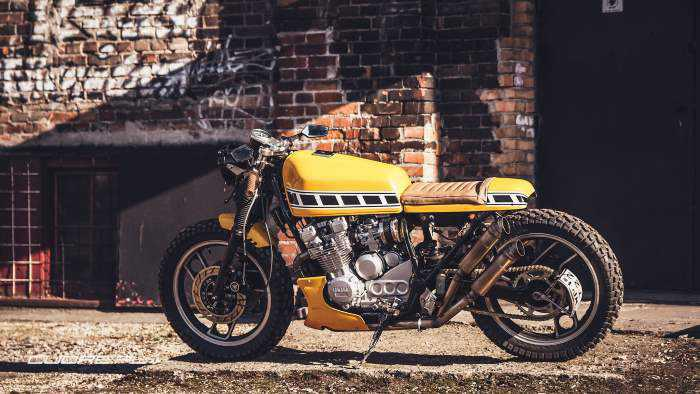 This Yamaha XJ600 cafe racer is fit for TEOTWAWKI!