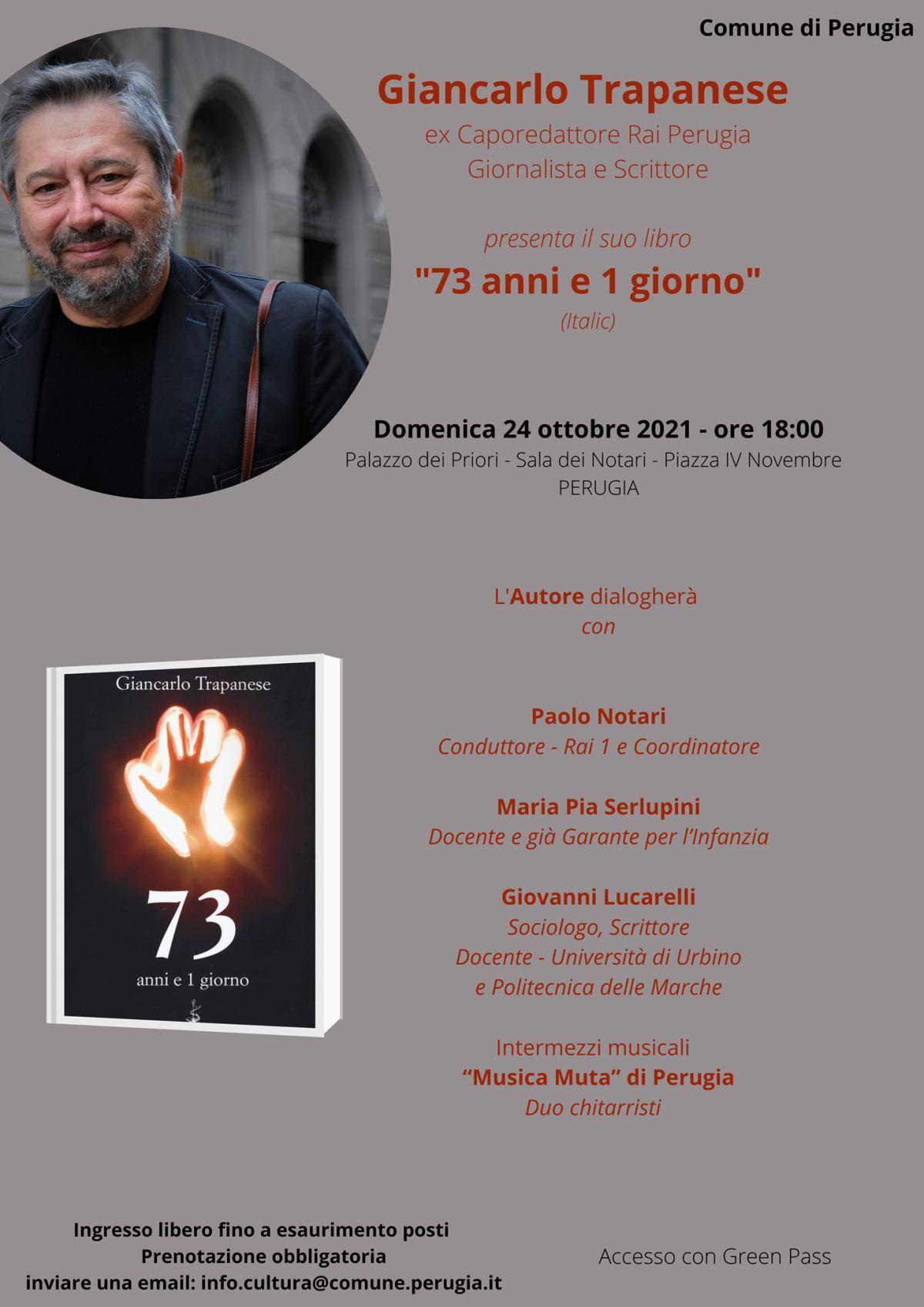 """""""73 anni e 1 giorno"""" di Giancarlo Trapanese"""