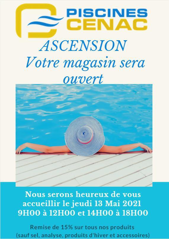 Pour l'Ascension, votre magasin sera ouvert ! 🌞💦