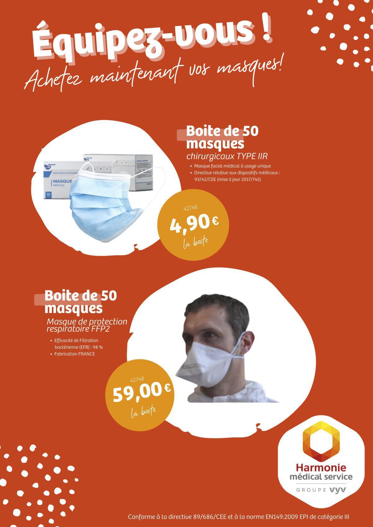 Equipez-vous : achetez vos masques !