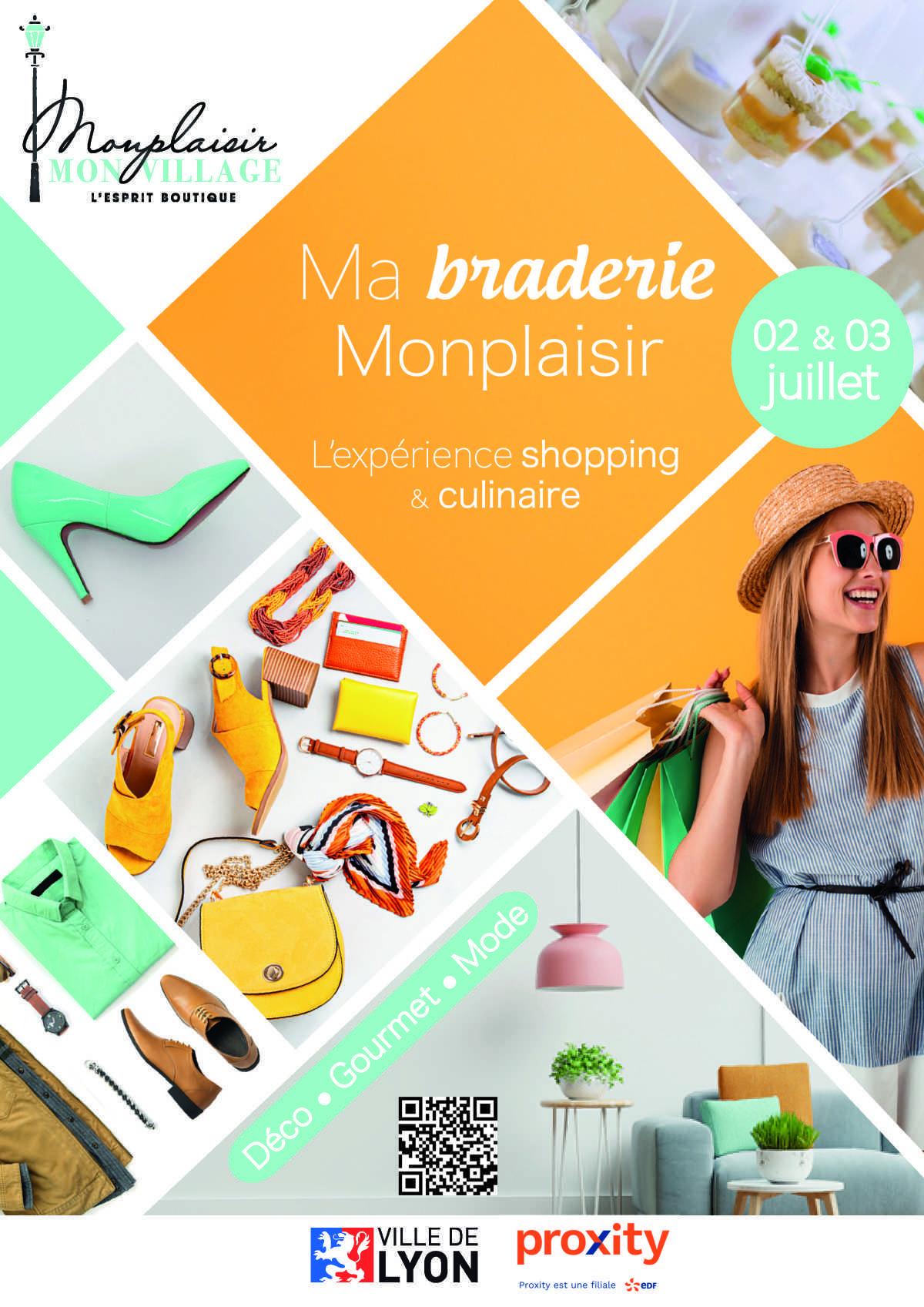 2 et 3/07 - Ma braderie, Monplaisir : l'expérience shopping et culinaire en plein air de l'été