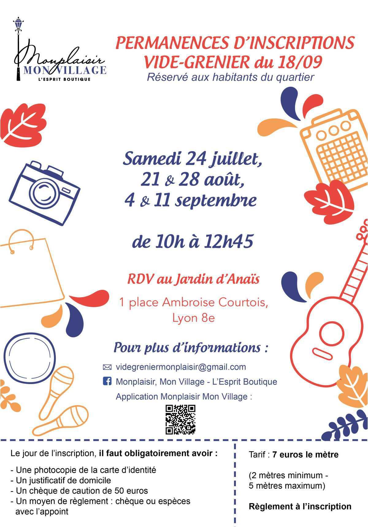 Samedi Plaisir #5 - Inscrivez-vous au vide-grenier du 18/09