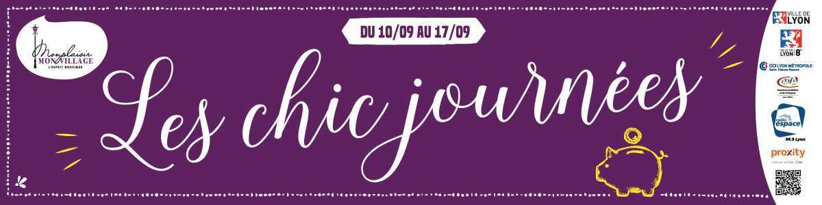 📣 Du 10 au 17/09 : profitez des chic journées !