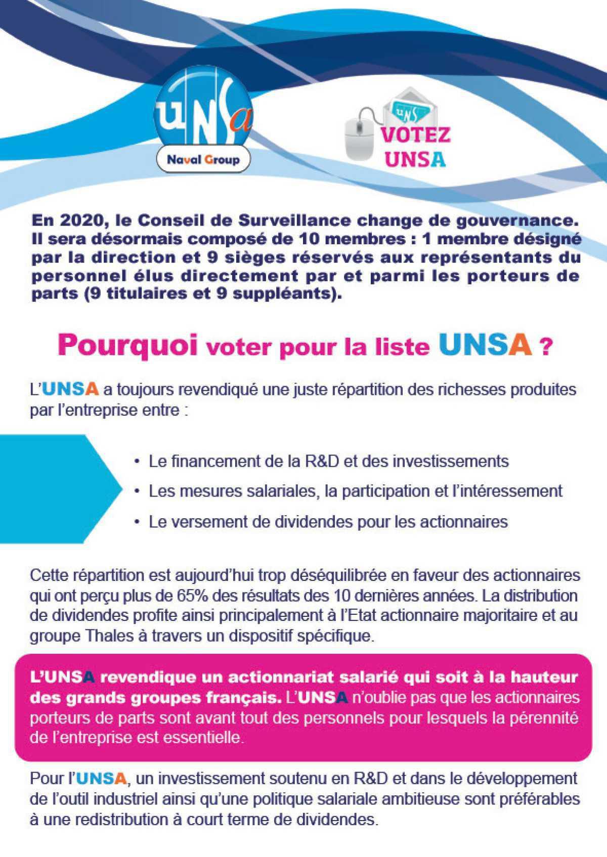 """Election des représentants du personnel au Conseil de Surveillance du """"FCPE Naval Group"""""""