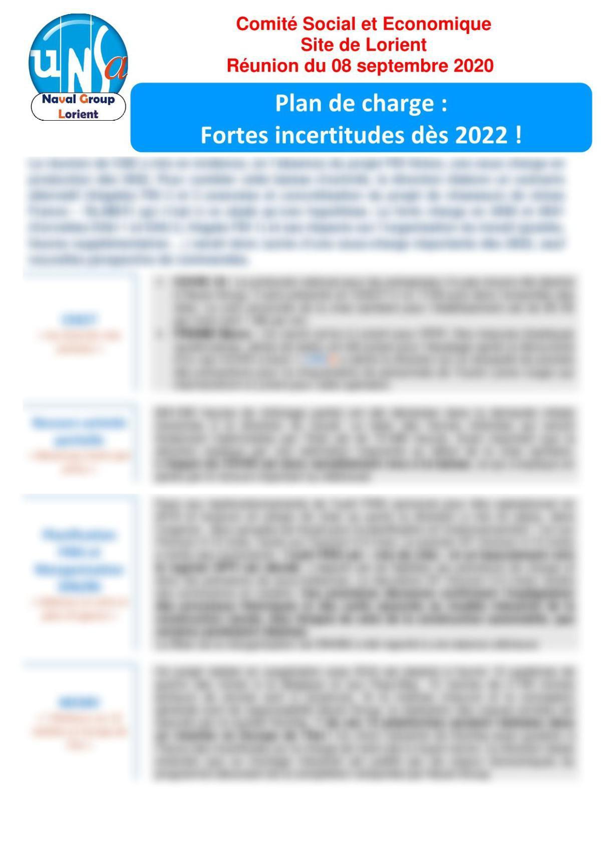 Réunion du 8 septembre 2020 - Compte Rendu